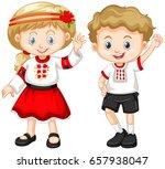 ukraine kids in traditional...