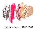set of crashed face powder ... | Shutterstock . vector #657939067