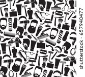 background pattern with barber... | Shutterstock .eps vector #657940477