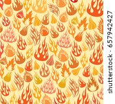 background pattern with flames...   Shutterstock .eps vector #657942427