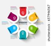 infographic business data... | Shutterstock .eps vector #657946567