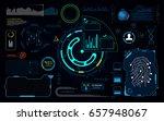 hud gui user interface system... | Shutterstock .eps vector #657948067