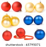 collectionof  christmas... | Shutterstock . vector #65795071