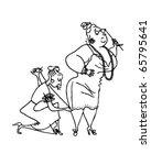 seamstress sewing hem   retro... | Shutterstock .eps vector #65795641