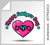 sticker with heart and phrase ... | Shutterstock .eps vector #657963313