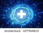 2d medical structure background | Shutterstock . vector #657964813