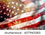 celebrating independence day.... | Shutterstock . vector #657965383