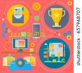seo and development concept... | Shutterstock . vector #657968707