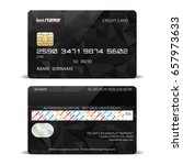 credit card isolated on a white ... | Shutterstock .eps vector #657973633