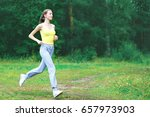 sport  fitness and healthy... | Shutterstock . vector #657973903