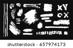 hand drawing brush stroke. set... | Shutterstock .eps vector #657974173