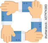 team work icon illustrated | Shutterstock .eps vector #657974383