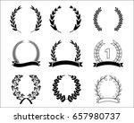 leaf laurel set vector design | Shutterstock .eps vector #657980737