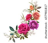 illustration of beautiful... | Shutterstock . vector #657981817
