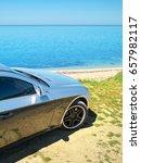 car on the sea shore. travel... | Shutterstock . vector #657982117