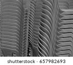 gray plastic chairs stacked... | Shutterstock . vector #657982693