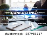 consulting business concept.... | Shutterstock . vector #657988117