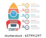 startup infographics with five... | Shutterstock .eps vector #657991297