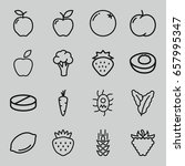 vitamin icons set. set of 16... | Shutterstock .eps vector #657995347
