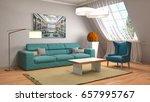 interior living room. 3d... | Shutterstock . vector #657995767