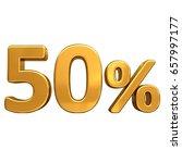 gold sale  50   gold percent... | Shutterstock . vector #657997177