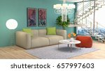 interior living room. 3d... | Shutterstock . vector #657997603