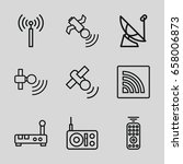 wireless icons set. set of 9...   Shutterstock .eps vector #658006873
