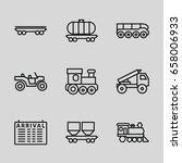 train icons set. set of 9 train ...   Shutterstock .eps vector #658006933