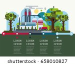inductry factory ecology... | Shutterstock .eps vector #658010827