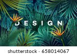bright tropical background with ... | Shutterstock .eps vector #658014067
