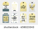 8 happy father's day tags in... | Shutterstock .eps vector #658023343