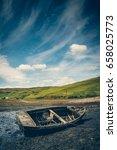 Old Wreck Fishing Boat Lying O...