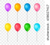 colorful set of gel balloons on ... | Shutterstock .eps vector #658027417