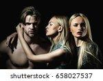 boyfriend or sexy macho with... | Shutterstock . vector #658027537