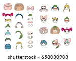 collection of hand drawn vector ... | Shutterstock .eps vector #658030903