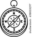 compass outline icon   Shutterstock .eps vector #658033297