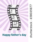 happy father's day family... | Shutterstock .eps vector #658035877