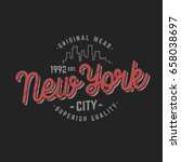 new york city logo t shirt... | Shutterstock .eps vector #658038697