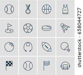 vector illustration of 16 sport ... | Shutterstock .eps vector #658044727