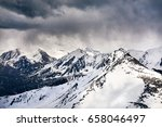 landscape of snowy mountains... | Shutterstock . vector #658046497