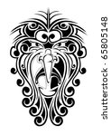 face of spirit demon devil | Shutterstock . vector #65805148