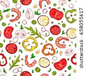 pretty seamless pattern made of ...