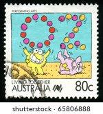 australia   circa 1988  stamp... | Shutterstock . vector #65806888