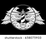 vector hand drawn illustration... | Shutterstock .eps vector #658075933