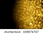 abstract golden sparkles... | Shutterstock . vector #658076767