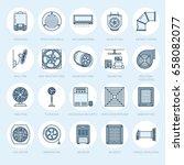 ventilation equipment line... | Shutterstock .eps vector #658082077