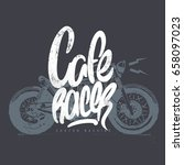 cafe racer vintage motorcycle... | Shutterstock .eps vector #658097023