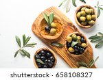 Black And Green Olives In...