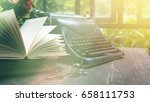 open book page and old... | Shutterstock . vector #658111753