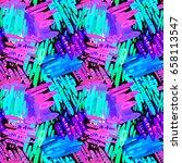 seamless brushpen textile... | Shutterstock .eps vector #658113547